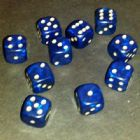 12mm Interferenz Spot Dice - Blue